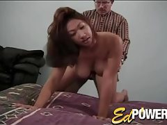 Horny bent over Asian fuck slut boned from behind tubes