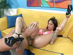 Angelina Valentine eaten out and and sucking dick tubes