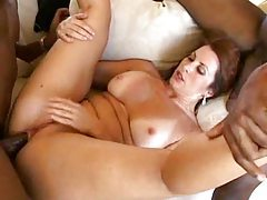 Black men fuck a hot milf slut tubes
