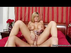 Kristal Summers sits on a big cock tubes
