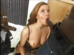 Lingerie slut Monica Sweetheart gives hot head to black guys tubes