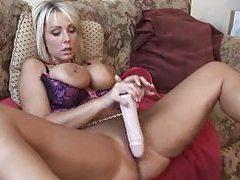 Babe with big pierced tits toy fucks tubes