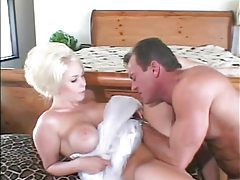 Foxy glamorous blonde slut boned in the cunt tubes