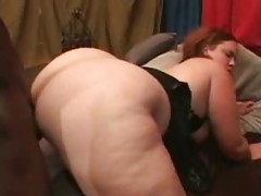 Fucking her BBW cunt and ass with BBC tubes