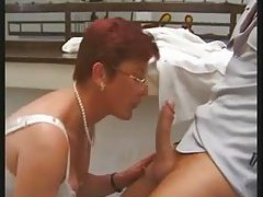 Redhead mature double penetration tubes