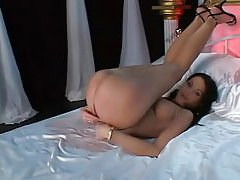 Slut is all kinds of glamorous in her striptease tubes