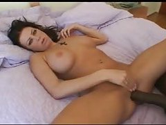 Interracial big cock sex and cumshot on her tits tubes