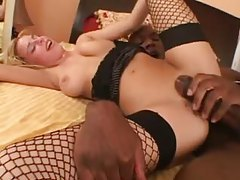 BBC fills the blonde hard and deep tubes