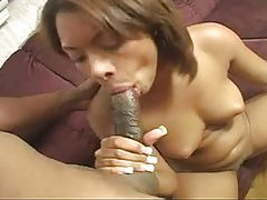 Sweet young black cocksucker nailed tubes