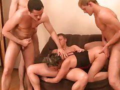 Russian mommy and her four young lovers tubes