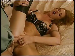 Redhead in leather hardcore anal sex tubes