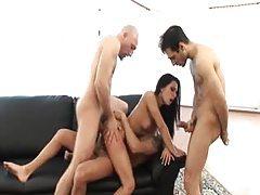 Three dicks in a dirty slut tubes