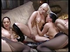 Classy Euro sluts star in sexy orgy tubes
