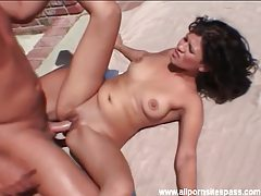 Sexy chick with shaved box fucked outdoors tubes