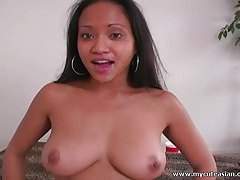 Huge tit Thai girl gets the biggest cum facial! tubes