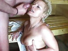 Amateur milf hardcore in the sauna tubes
