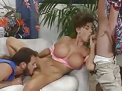 Fake tits 80s babe boned in threesome video tubes