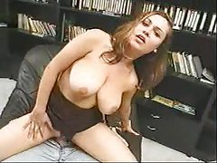 Curvy girl sits sensually on his hard cock tubes