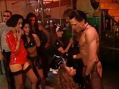 Costume party with strippers banging dudes tubes