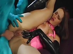 Latex chick fucked by spandex guy tubes