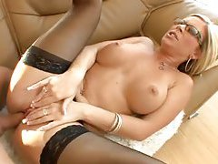 Sexy milf in stockings and glasses fucked tubes