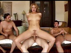 Sexy anal girl with big tits takes on three guys tubes