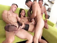Leggy Euro girl turned into gangbang slut tubes