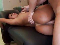 Tattooed Latina minx gets her ass drilled deep tubes