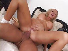 Fake tits bimbo fucked up the butt tubes