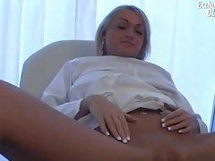 Her pussy is closely examined in doctor video tubes