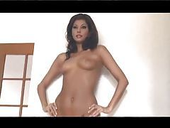Gorgeous mocha babe with perfect body poses tubes