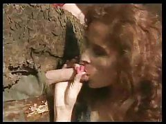 Farmer fucks redhead in the cabin tubes