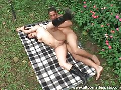 Daring couple enjoy hardcore sex outdoors tubes