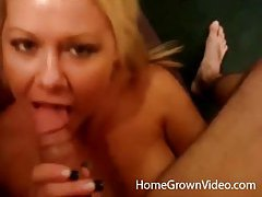 Horny blonde amateur minx loves sucking dick tubes