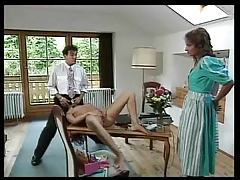 Retro beauty sucks cock and gets pussy licked tubes