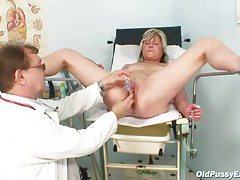 Milk enema for the mature pussy tubes