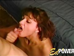 Cute amateur sucks his cock on her knees tubes
