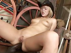 Blonde country girl gets anal fucked by black guy tubes
