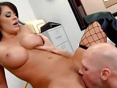 Sexy fake tits chick in boots suck and titjob tubes