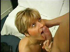 Horny milf with sexy stockings enjoys some sensual sex tubes