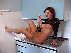 Upside down facefuck with a Euro redhead tubes