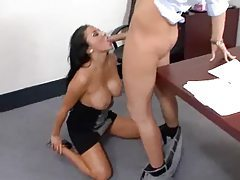 Audrey Bitoni hot office blowjob tubes