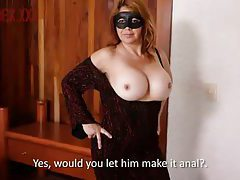 Masked milf in hot dress fucked up the ass tubes