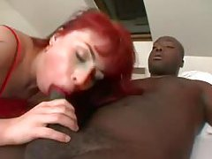 Double anal with redhead in red lingerie tubes