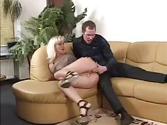 She gags on his big cock tubes
