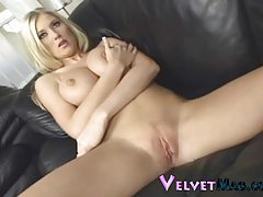 British beauty Michelle B fondles her body tubes