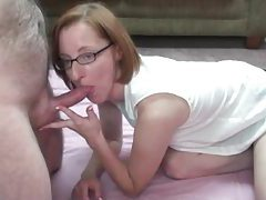Redhead milf in glasses fucked in the pussy tubes