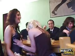 Intoxicated babes getting their freak on at orgy party tubes