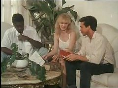 Peter North and black guy in retro fuck slut threesome tubes