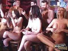 Smoking hot ladies get their holes filled at naughty bar tubes